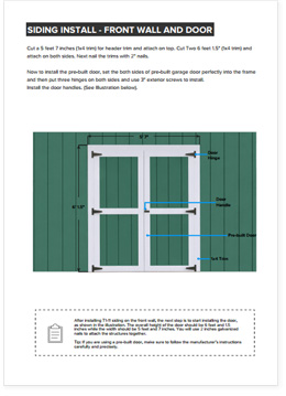 6x10 Lean-To shed plan step by step instructions