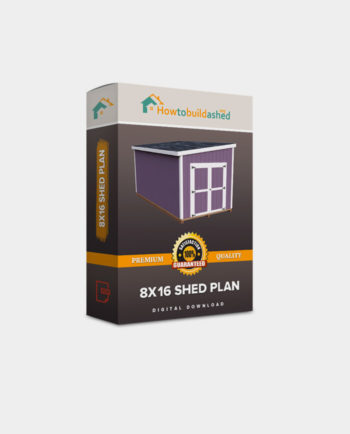 8x16 Lean-To shed plan product box