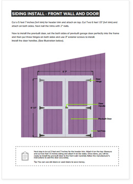 8x16 Lean-To shed plan step by step instructions