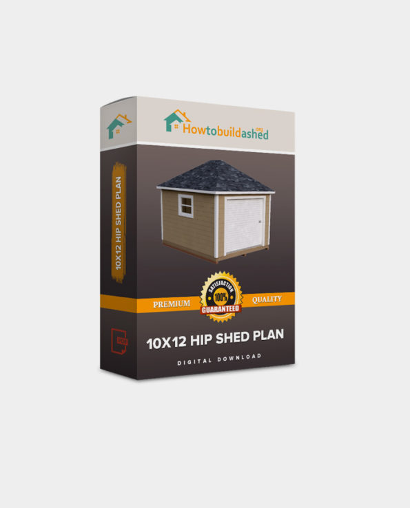 10×12 Hip Roof Storage Shed Plan