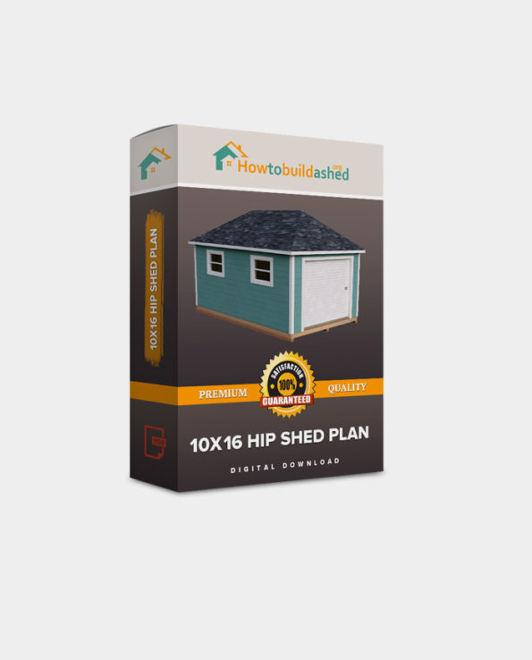 10×16 Hip Roof Storage Shed Plan
