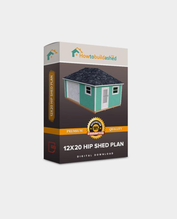 12×20 Hip Roof Storage Shed Plan