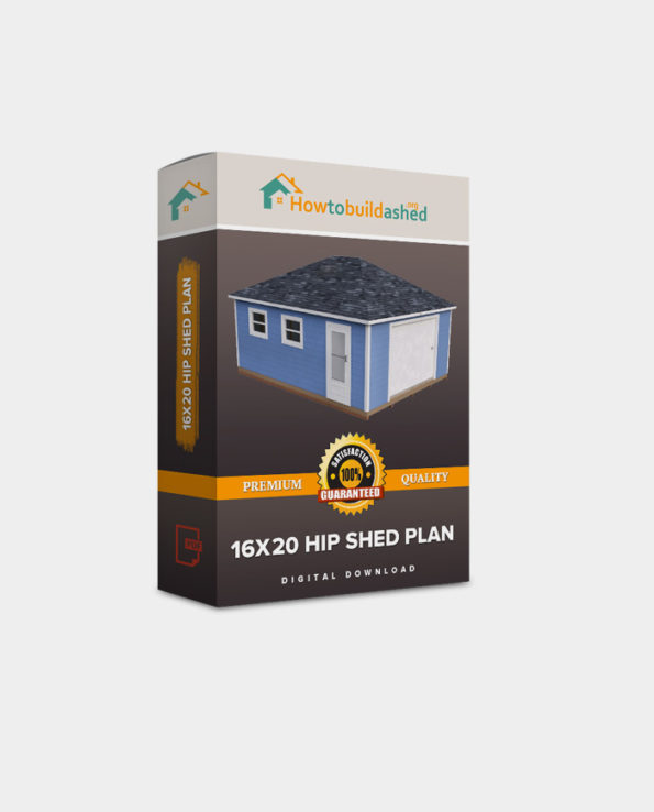 16x20 Hip Roof Storage Shed Plan